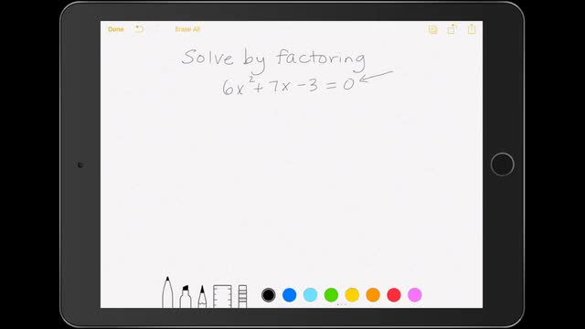 Lesson 5-3 Solve by Factoring - when the leading coefficient is not 1