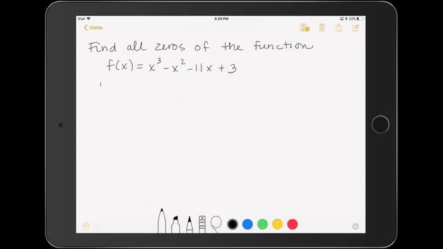 Finding the Zeros of a Polynomial Function 2