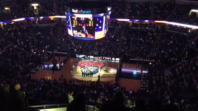 Tiger Tones at Grizzlies Game - November 2016