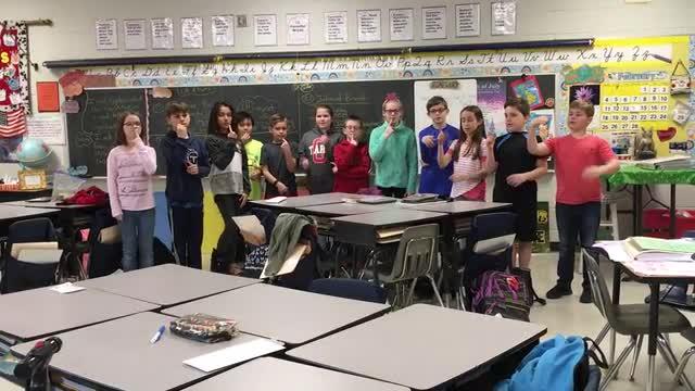 4th Graders present (The First 10 Amendments)