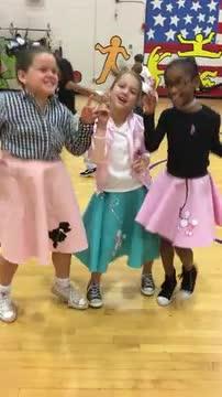 girls dancing at the Hop!