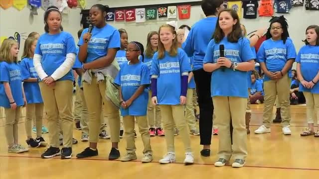 LSM Center Stage performing during the Blue Ribbon Celebration. Courtesy of Decatur Daily - John Godbey