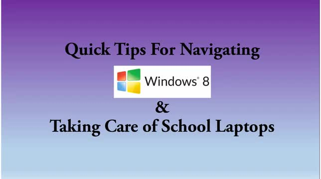 Windows 8 Quick Tips Video