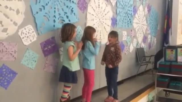 Video of students working cooperatively