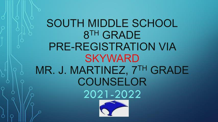 7th to 8th Grade Registration