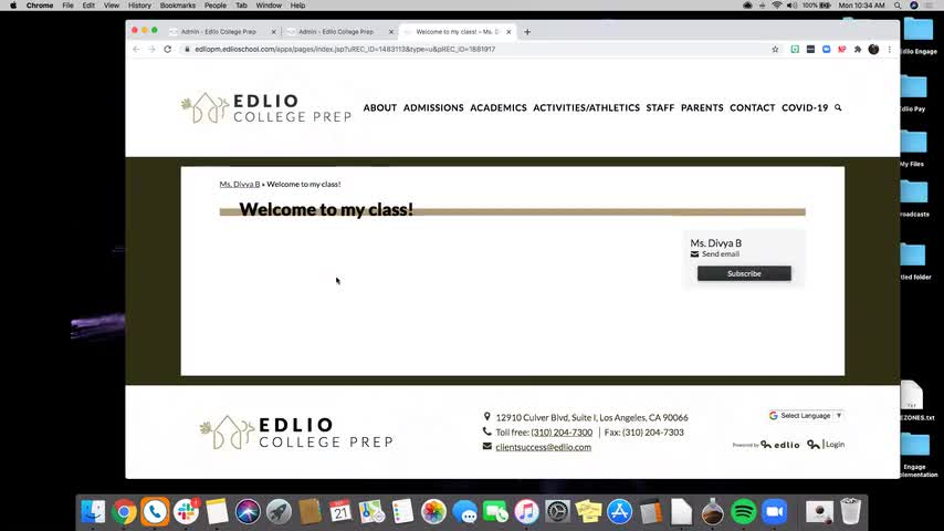 [Edlio Webinar] Teacher Overview for Back to School 2020/2021 screencap