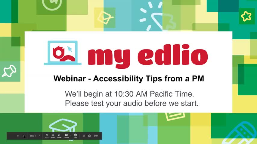 [Edlio Webinar] Accessibility - Best Practices from a Project Manager screencap