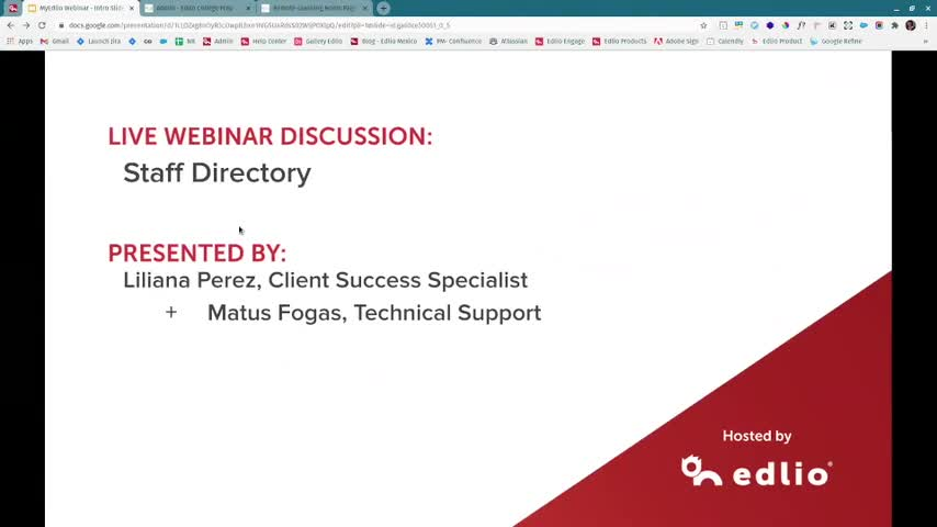 [Edlio Webinar] Staff Directory Updates screencap
