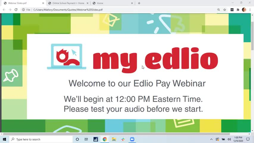 Edlio Pay Year-End Webinar screencap