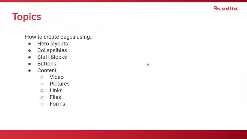 [Edlio Webinar] Page Enhancements and Focus on Site Navigation screencap