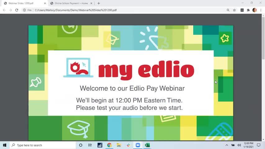 [Edlio Webinar] Edlio Pay Training: OSMS Portal Home Screen screencap