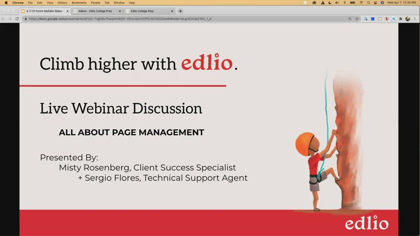 [Edlio Webinar] All About Page Management screencap