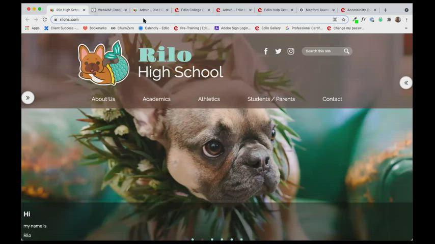 [Edlio Webinar] Website Accessibility screencap