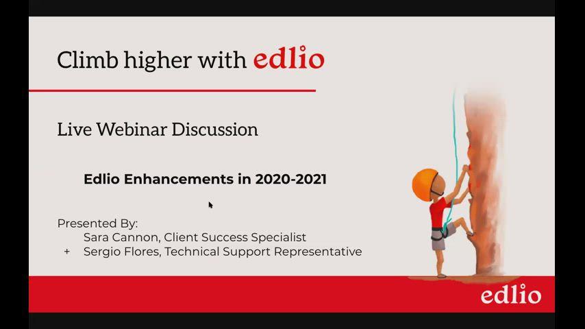 Latest Edlio Enhancements [Edlio Webinar] screencap