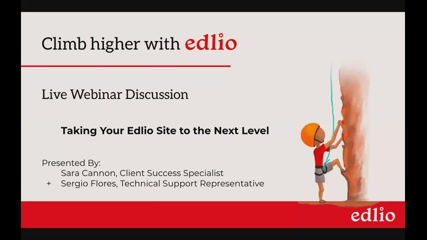 Taking Your Edlio Site to the Next Level screencap