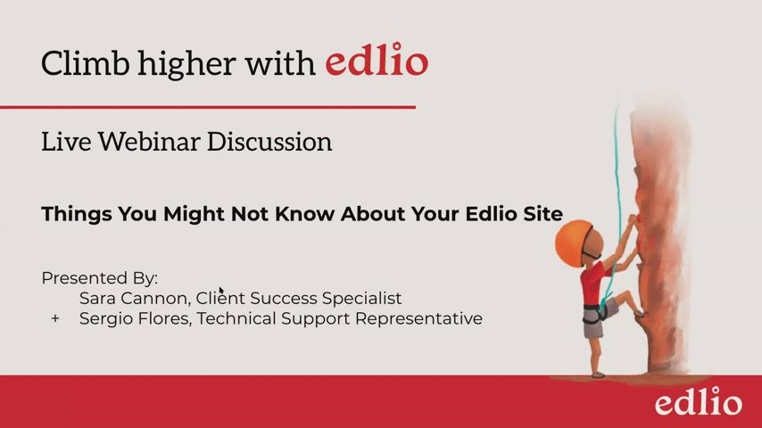 Things You Might Not Know About Your Edlio Site screencap
