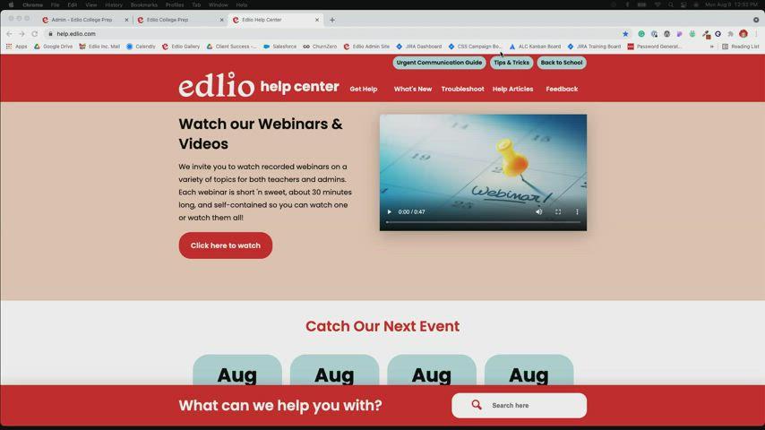 Communication Tools Edlio Webinar screencap
