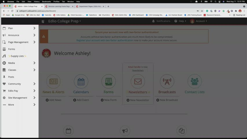 Building Beautiful Pages Edlio Webinar screencap