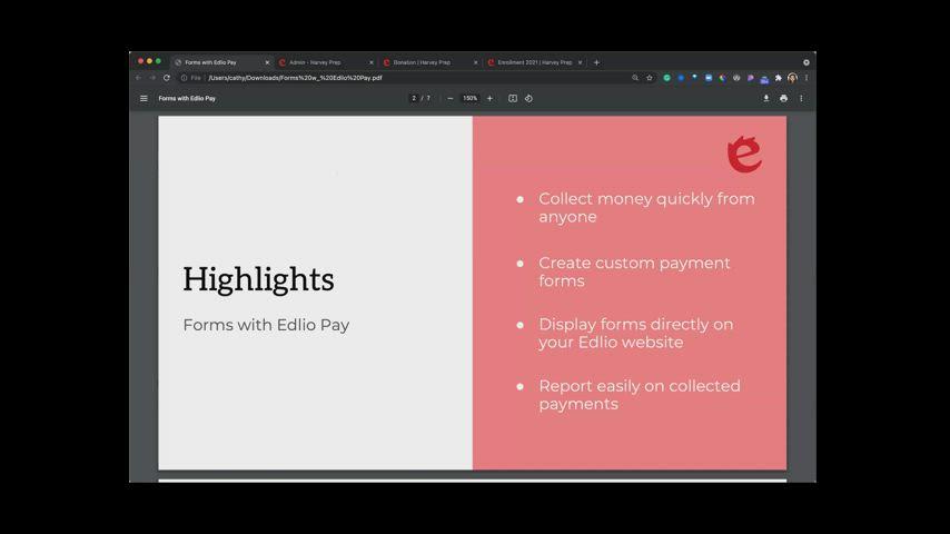 Forms with Edlio Pay [Edlio Webinar] screencap