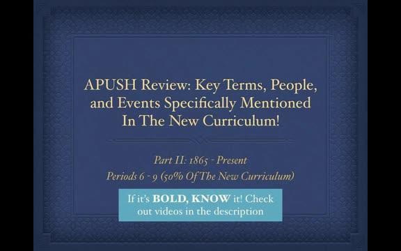 Apush Review Part 2 Periods 6 9 Elkhart High School