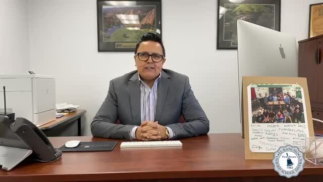 Appreciation Message from Dr. Esparza
