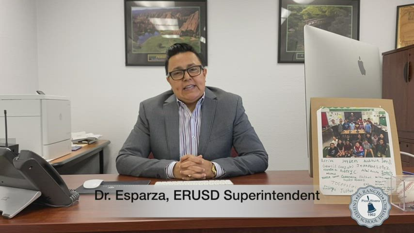 Appreciation Message from Dr. Esparaza