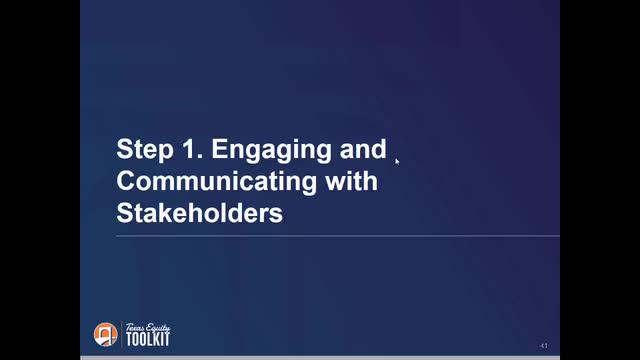Equity Plan Step 1:  Engaging and Communicating with Stakeholders
