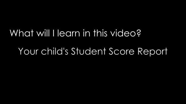 Understanding CAASPP Student Score Reports video