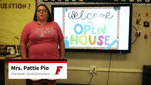 This is a video of Mrs. Pio's Open House at North Elementary