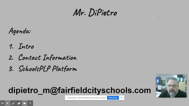 Mr. DiPietro's Virtual Open House - Virtual Learning