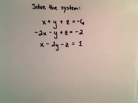 Notes 3-2 System of 3 Equations 3 Unknowns Using Elimination