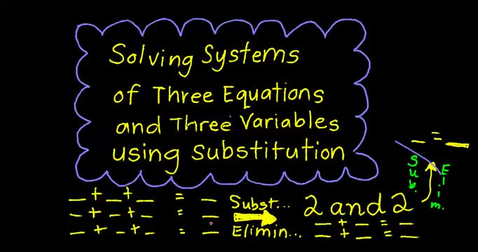 Notes 3-1 Solve Systems of Equations in three variables using Substitution