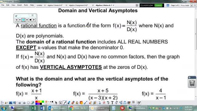 Algebra 2 Notes 8-7