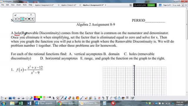 Algebra 2 Assignment 8-9 Help