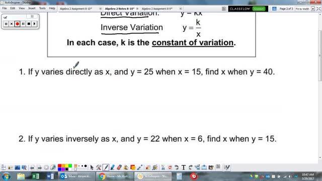 Algebra 2 Notes 8-10
