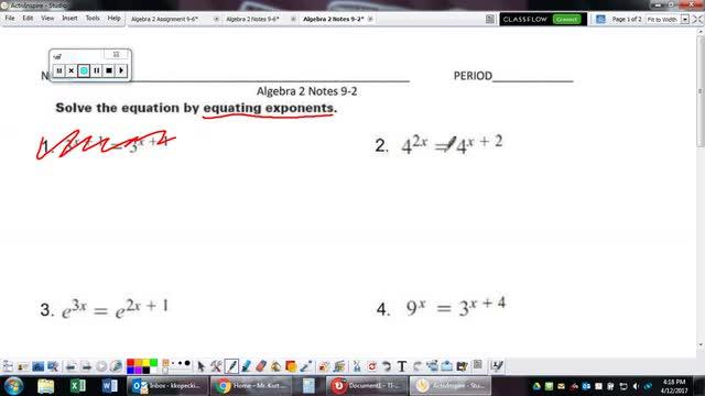 Algebra 2 Notes 9-2
