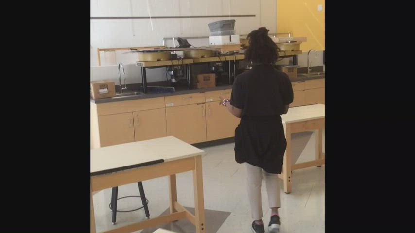 Videos of art room, band room, and library