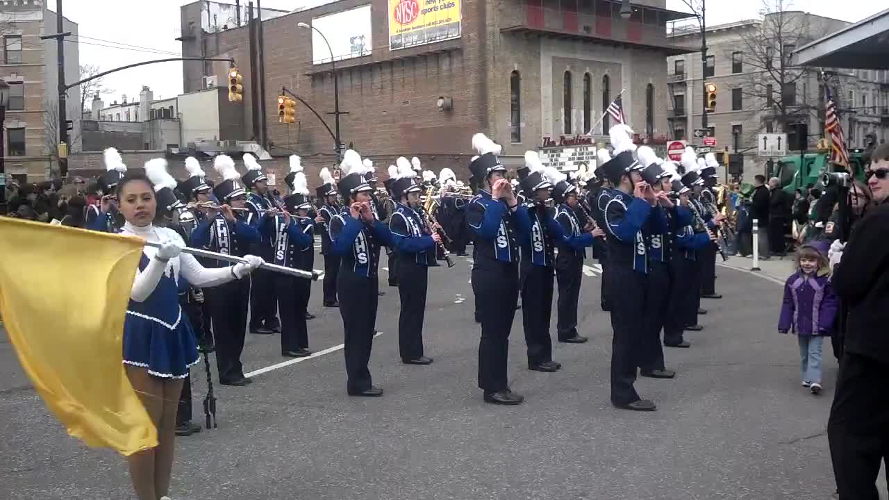 FHHS Marching Band at St  Patrick's Day Parade | Fort