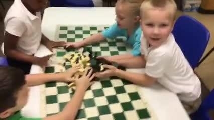 video of kindergarten students in Chess class