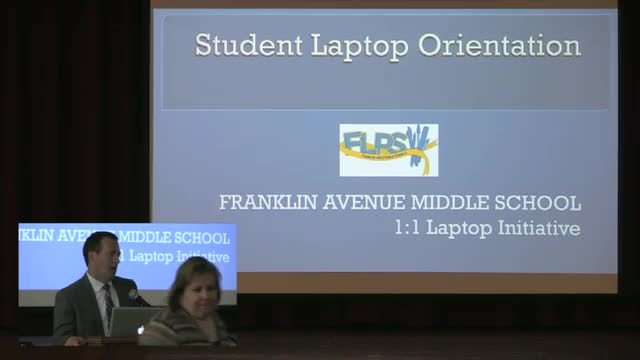 Video Recording of 1 to 1 Laptop Orientation 2015 presentation