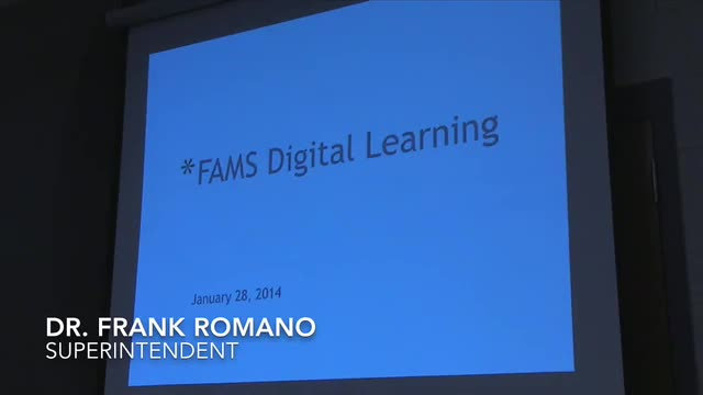Video of FAMS DLC: Board of Education presentation.