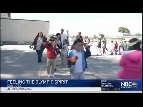 NBC story on the Olympics and the art projects students have been working on at Los Arboles