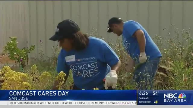 Comcast Cares Day at Sylvandale Middle School