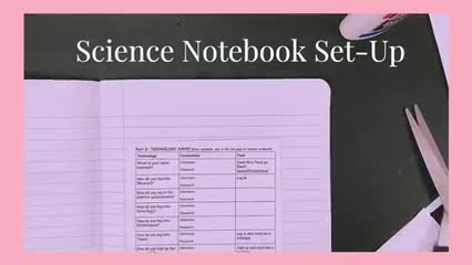 Science Notebook Set-Up