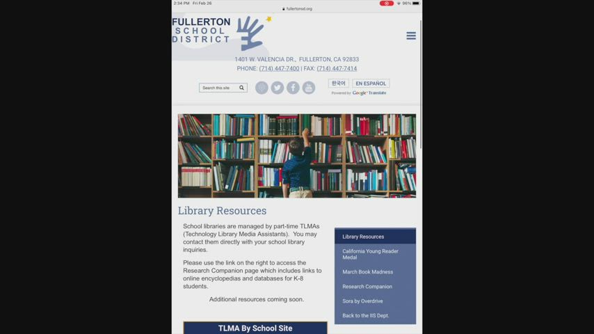 Library Resources Overview