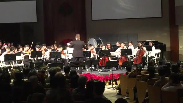 Orchestra performing at Wilshire Church
