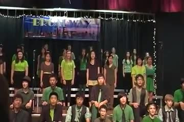 "Students singing ""For Good"" and ""Defying Gravity"" by Choir II"