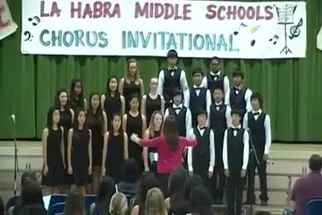 "Parks Students at La Habra Chorus Invitational singing, ""Elijah Rock"" by Chanson"