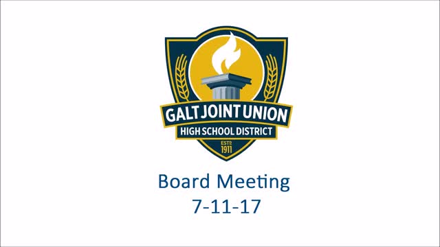 Board Meeting 7-11-17 (Audio Video)