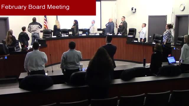 Special Board Meeting 2-19-2019